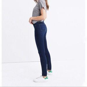 MADEWELL dark high riser skinny skinny jeans 27